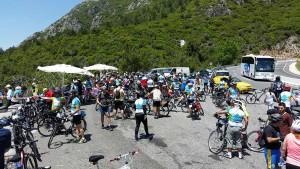 Turda 220 bisikletçi bir arada pedalladık.