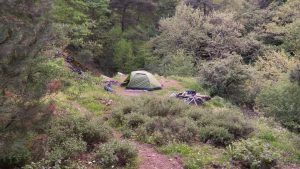 Armutlu yakınlarındaki son kamp alanımız.