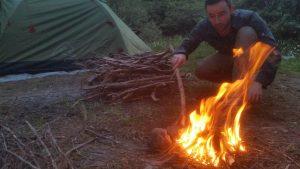Turun ilk kamp ateşi.